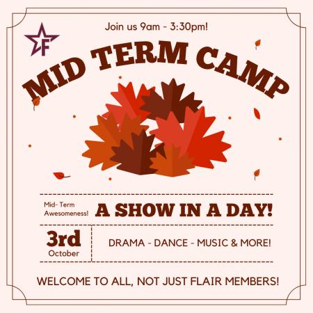 Mid Term Autumn PA Camp
